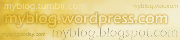 domain names of free blogging websites' blogs