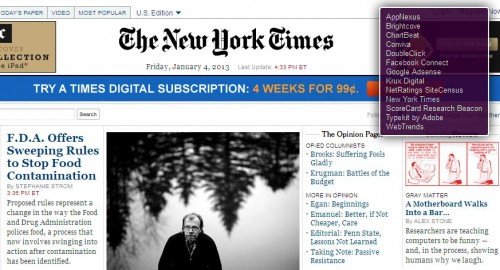 The New York Times tracker websites