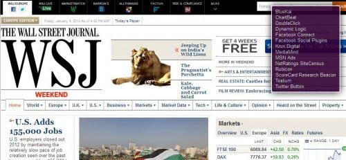 Wall Street Journal  - WSJ - tracker websites